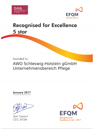 EFQM R4E-Urkunde2017