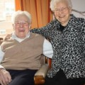 Wilhelm Böge (100) mit seiner Ehefrau Elfriede (96)